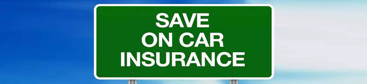 Road sign saying Save on Car Insurance