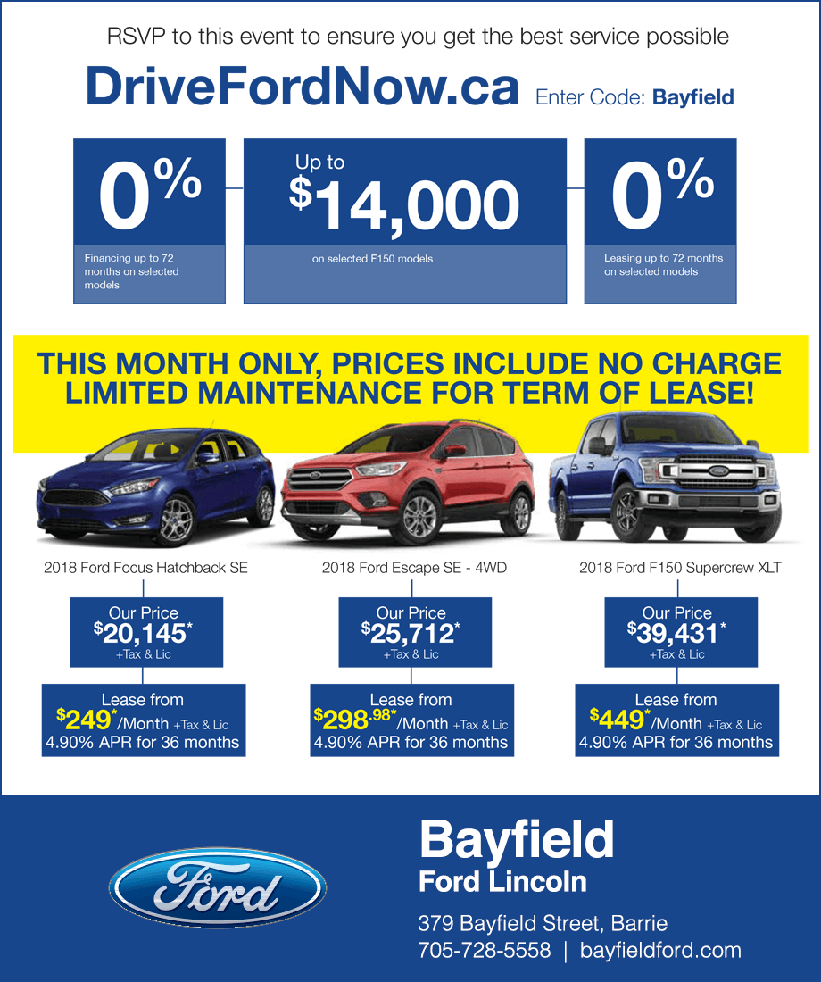 Bayfied Ford Lincoln Barrie Sale Event