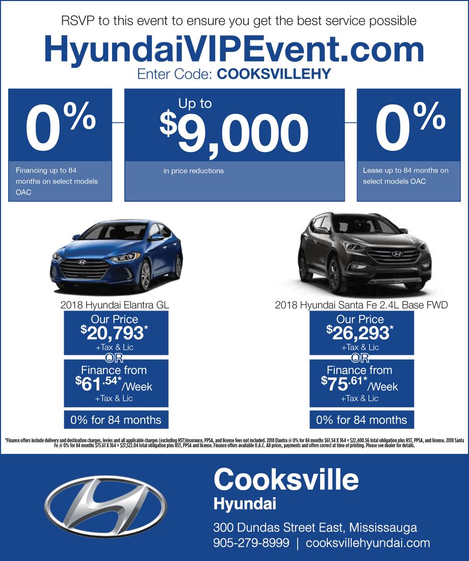 Cooksville Hyundai Mississauga Sale Event