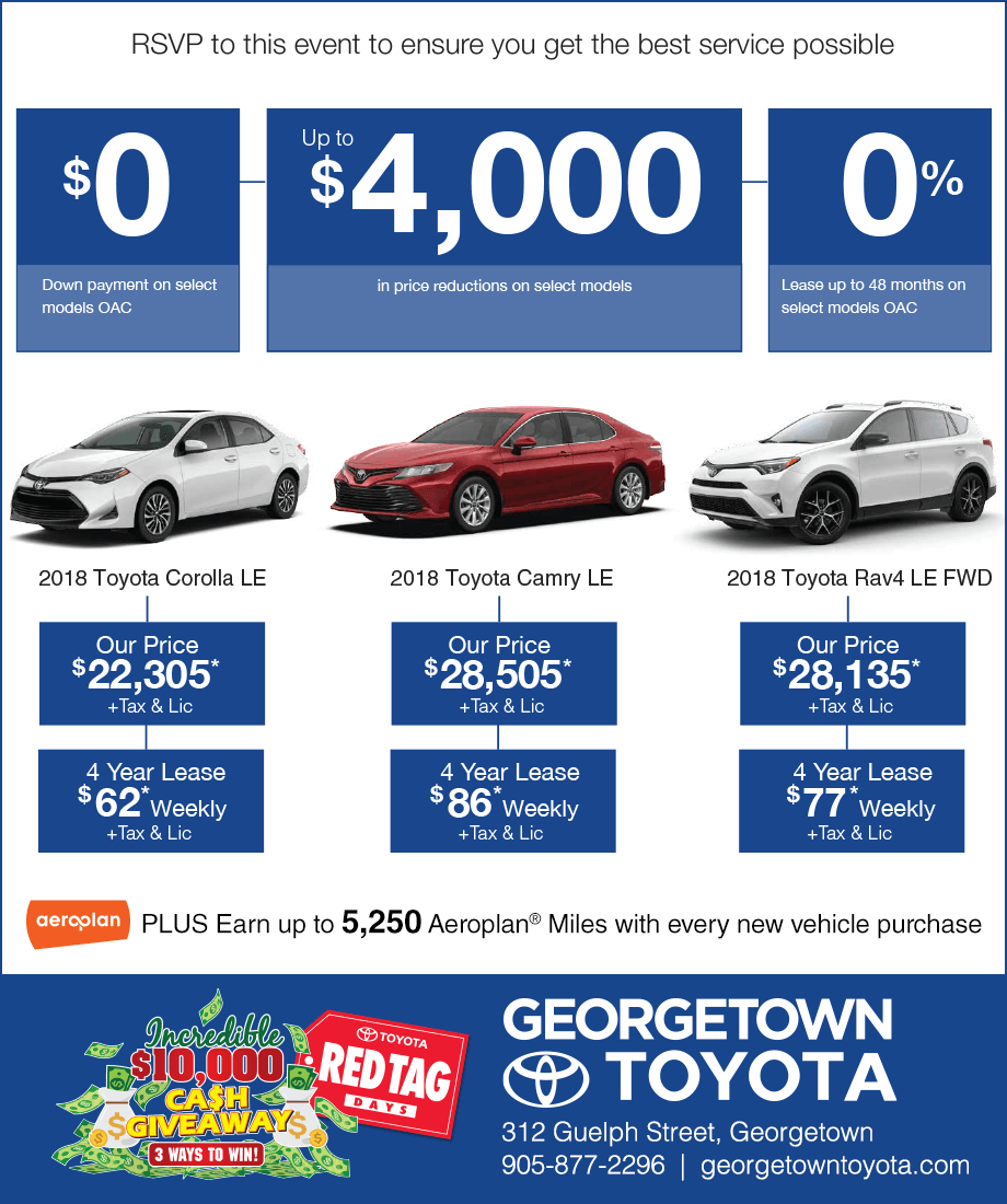 Georgetown Toyota Sale Event
