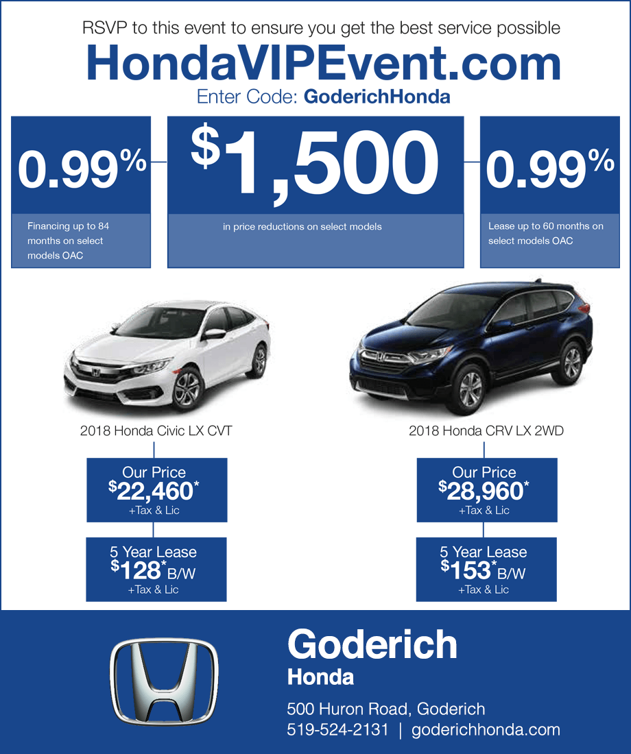 Goderich Honda Sale Event