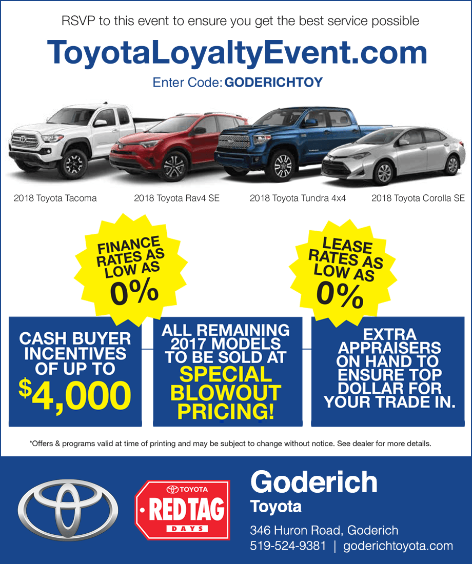 Goderich Toyota Sale Event