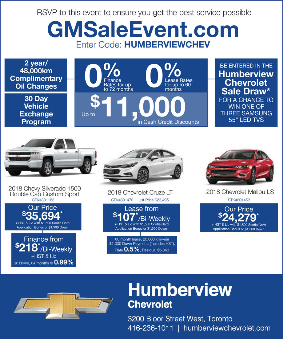 Humberview Chevrolet Toronto Sale Event