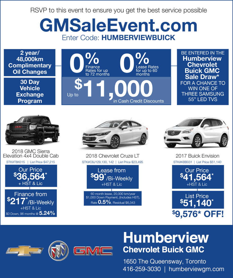 Humberview Chevrolet Buick GMC Toronto Sale Event