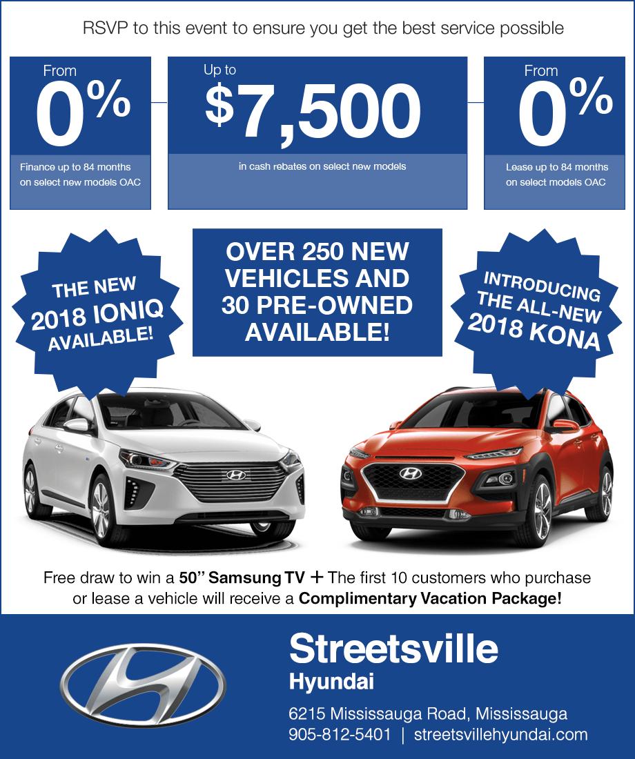 Streetsville Hyundai Mississauga Sale Event