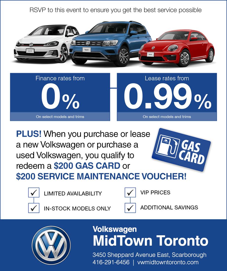 Volkswagen MidTown Toronto Sale Event