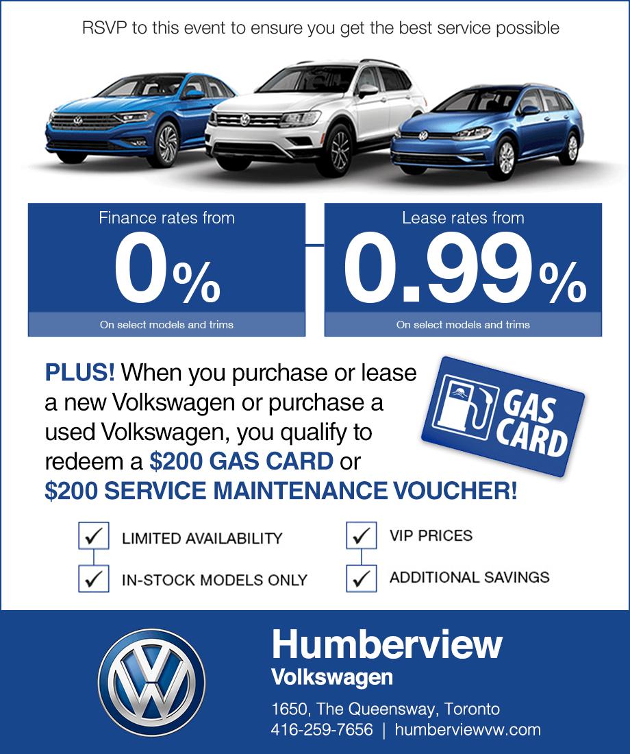 Humberview Volkswagen Sale Event