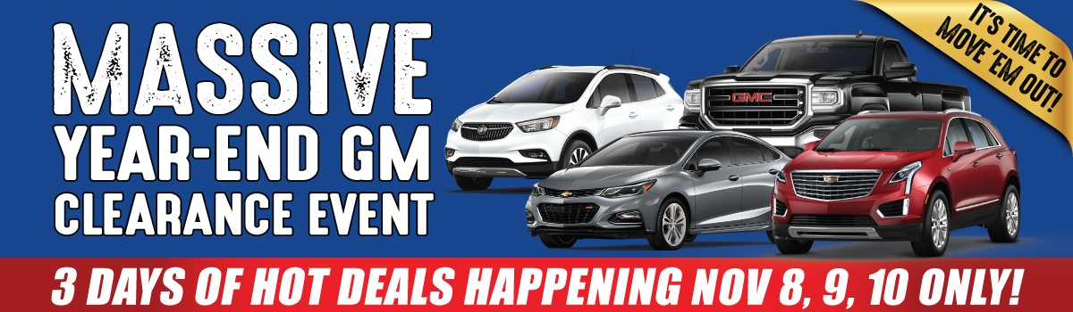 City Buick Chevrolet Cadillac GMC Massive Year End Clearance Event